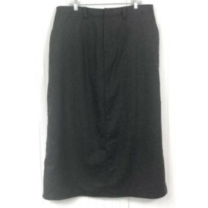 Eddie Bauer Long Wool Blend Skirt Dark Gray 18W
